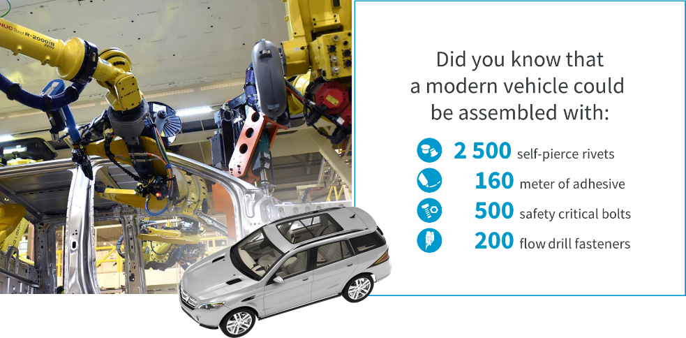 Examples of Atlas Copco Industrial Assembly Solutions in modern vehicle construction